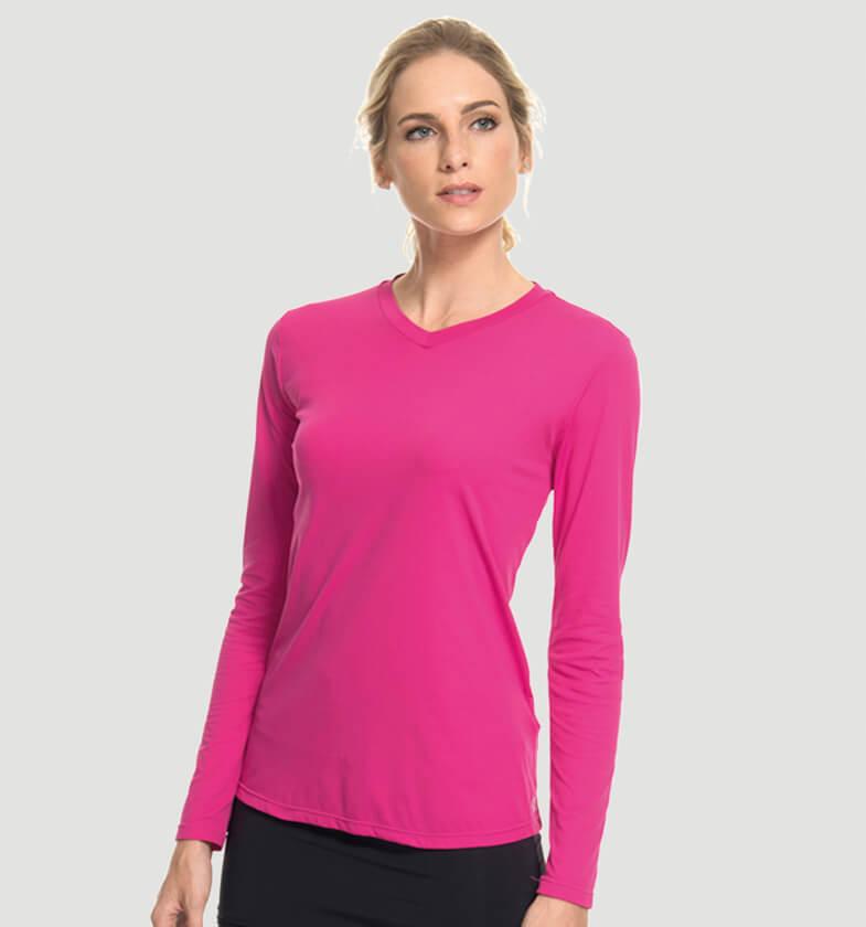 Camiseta Sport Fit Feminina - Magenta - uvline ea52dde8b2e