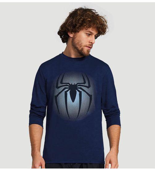 004202657a Camiseta com Proteção Solar Flex Spider Masculina UV.LINE