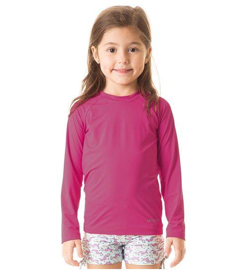 16d6dd687a Camiseta com Proteção Solar Uvpro Infantil UV.LINE - Magenta