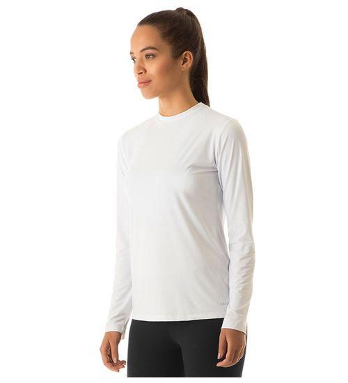 48ea8a85dc Camiseta com Proteção Solar Uvpro Feminina UV.LINE - Branco