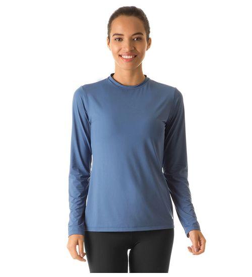 04343038e5 Camiseta com Proteção Solar Uvpro Feminina UV.LINE - Azul Índigo