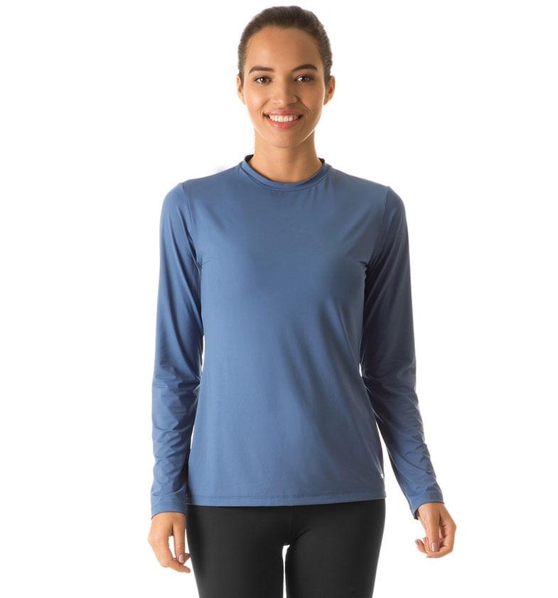Camiseta Uvpro Feminina - Azul Índigo - uvline ca78cd1e6e4bc