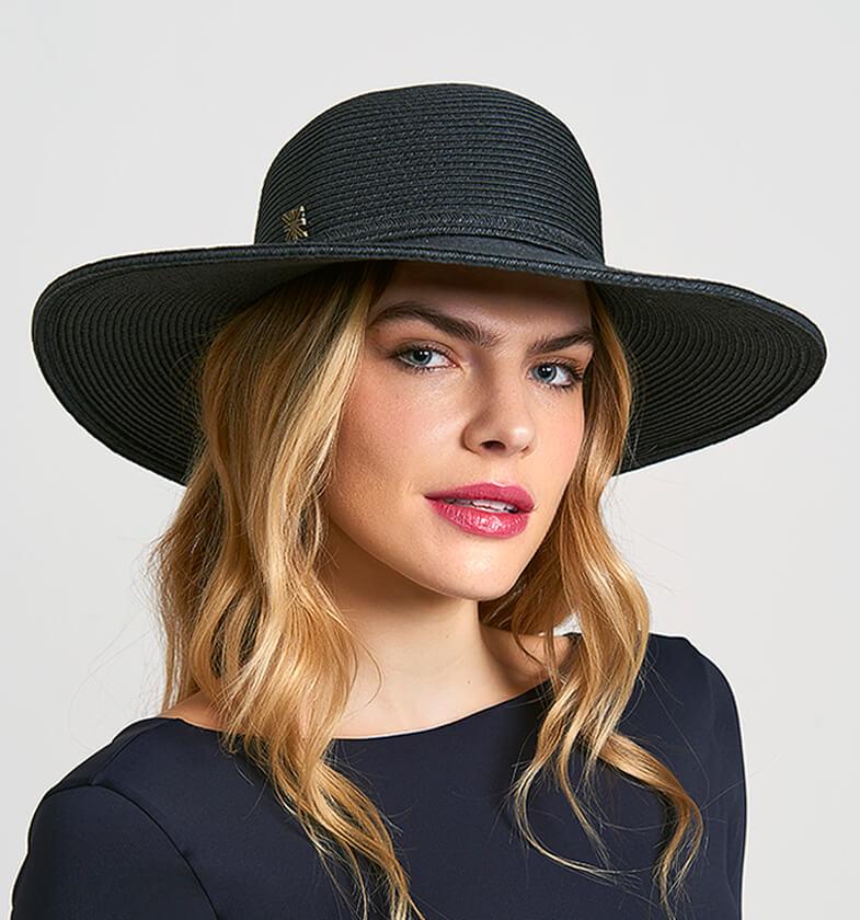 Jurerê Chapéu Com Proteção Solar UV.LINE Preto