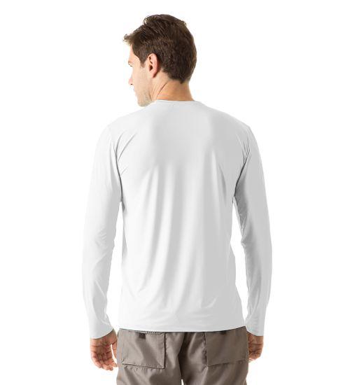 dca957456b Camiseta com Proteção Solar Uvpro Masculina UV.LINE - Branco