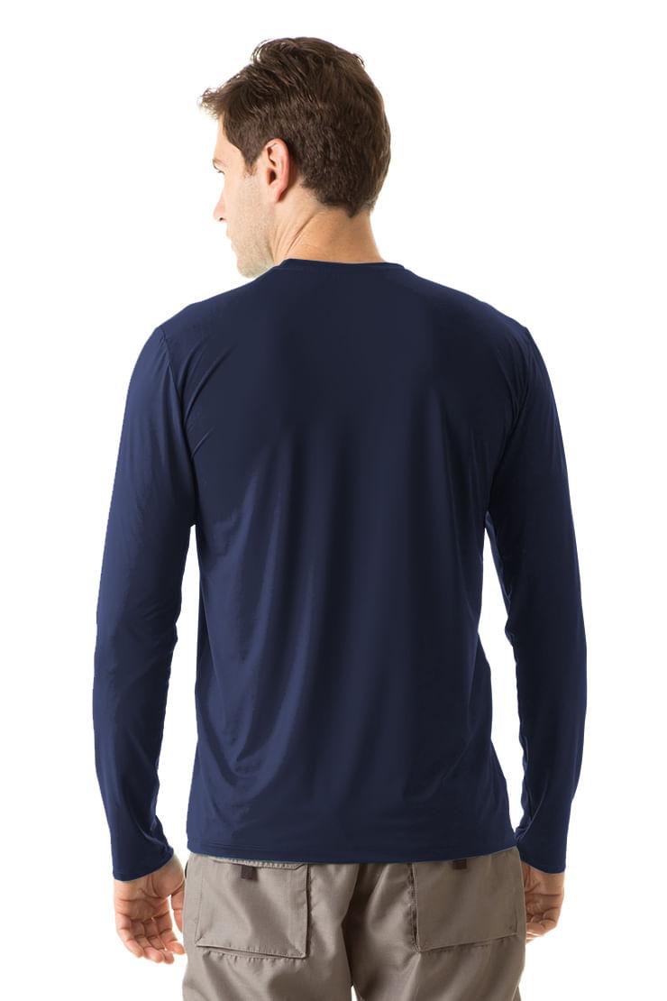 525a7ceade Camiseta com Proteção Solar Uvpro Masculina UV.LINE - Marinho