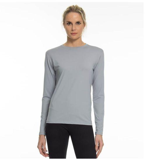 278c68f7c3 Camiseta com Proteção Solar Uvpro Feminina UV.LINE - Cinza