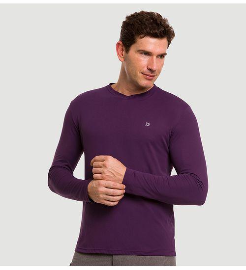 c9991f7586 Camiseta com Proteção Solar Sport Fit Masculina UV.LINE - Roxo