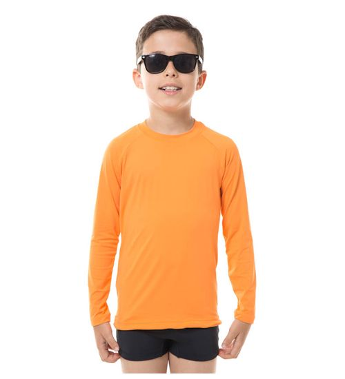 b885909965 Camiseta com Proteção Solar Uvpro Colors Infantil UV.LINE - Tangerina