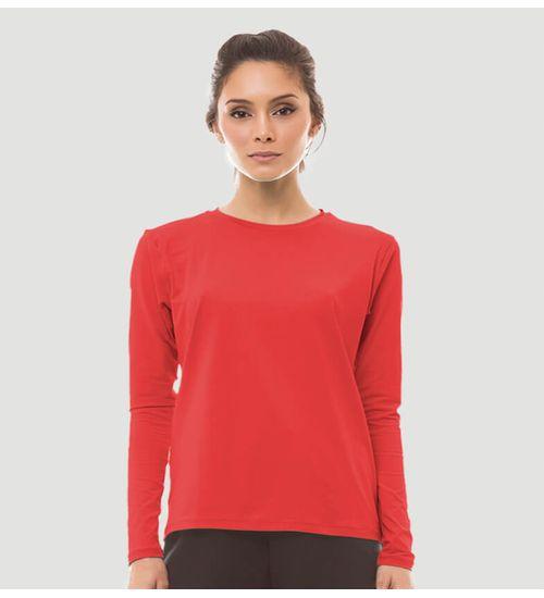 973dcdc271 Camiseta com Proteção Solar Uvpro Colors Feminina UV.LINE - Vermelho