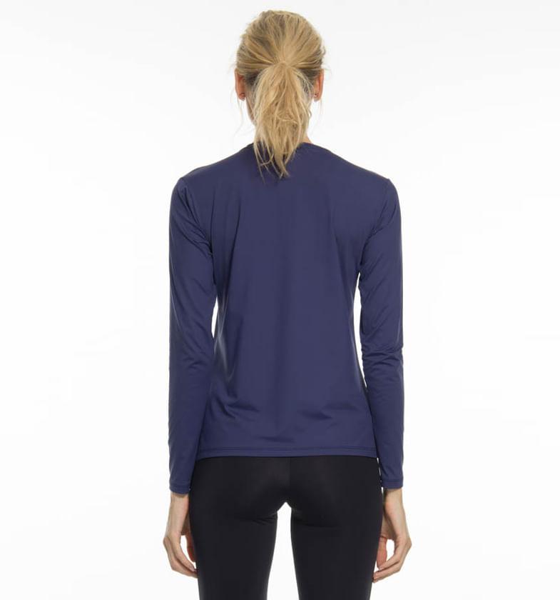 Camiseta Repelente com Proteção Solar UV.LINE Marinho