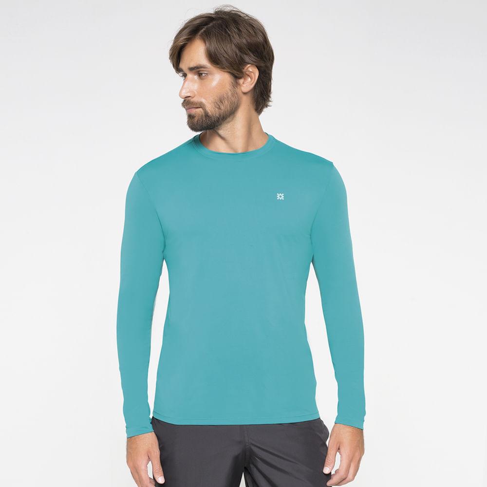 Camiseta com Proteção Solar UV.LINE - UVPRO - Verde Hortelã