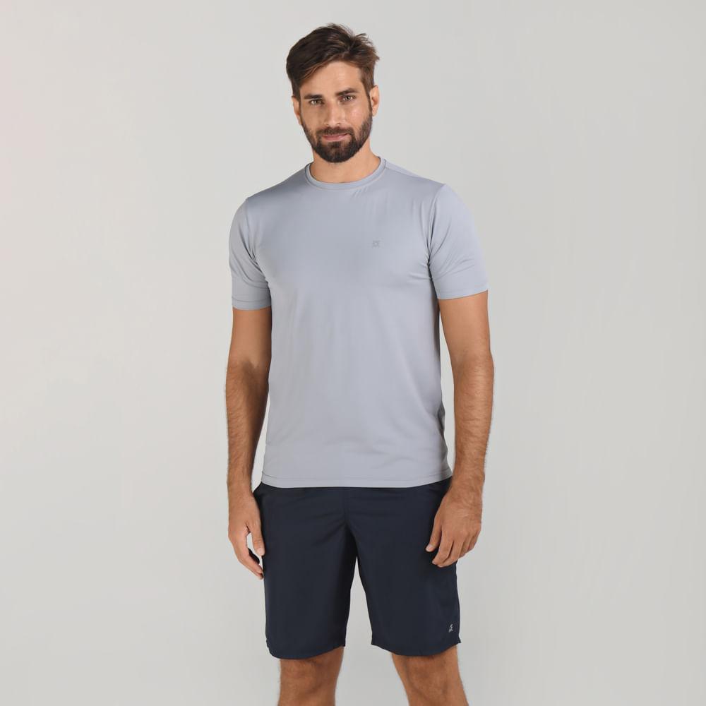 UVPRO Camiseta com Proteção Solar UV.LINE Cinza